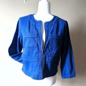 Ellen Tracy | Cobalt Blue Moto Jacket